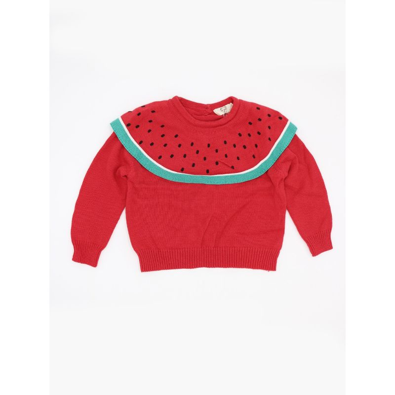 Cute Watermelon Knitted Sweater Long sleeve Top Pullover for Toddlers Girls