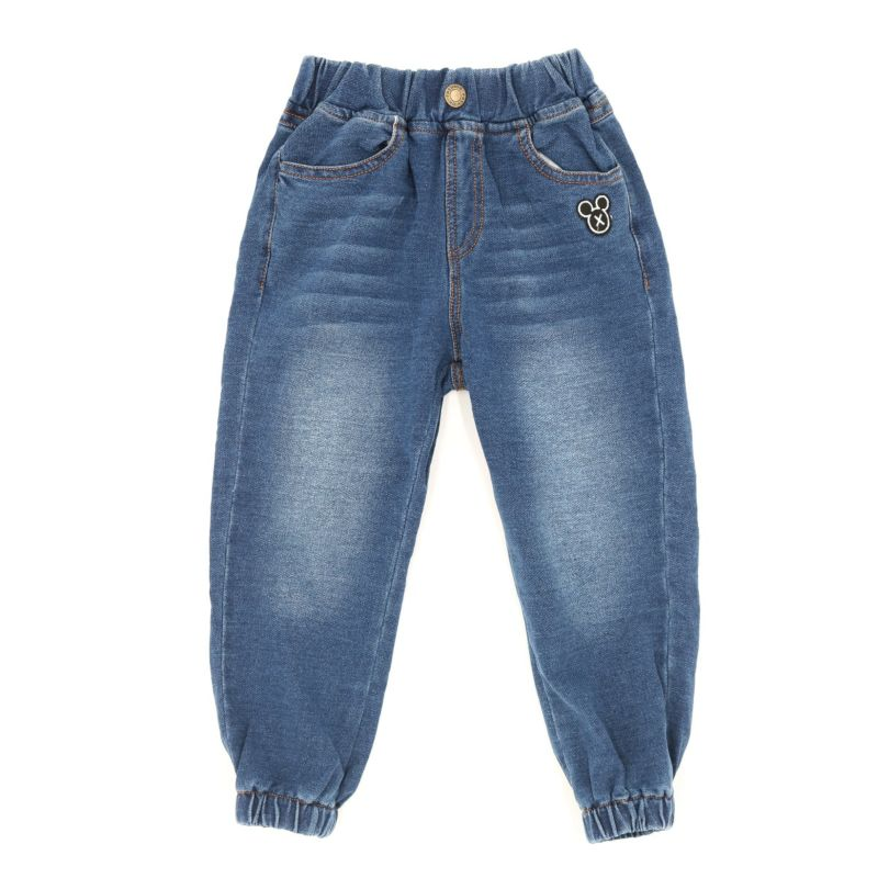 Fashion Toddler Big Boys Elastic Waist Band Ankle Banded Denim Pants Kids Jeans