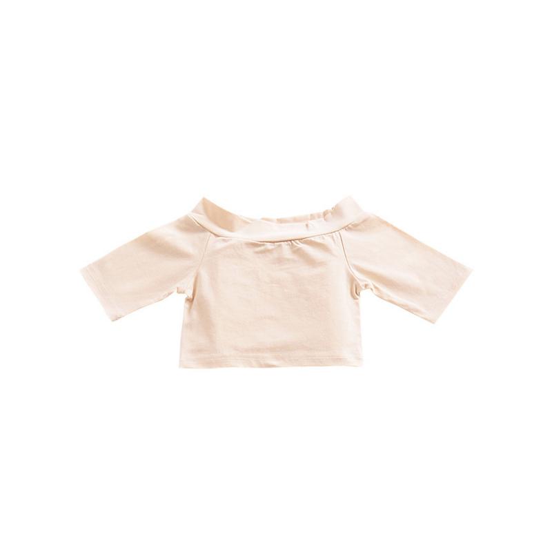 Fashion Baby Toddler Girl Off Shoulder T-shirt for Summer